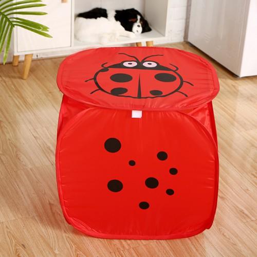 Корзина для игрушек Веселые животные с крышкой на липучке   в  Интернет-магазин Zelenaya Vorona™ 1