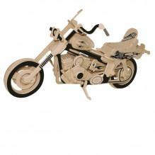 3D Деревянный конструктор. Модель Harley