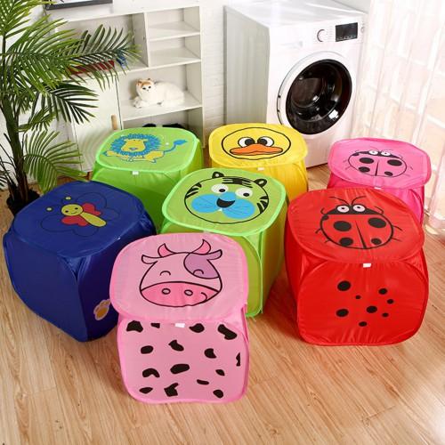 Покупка  Корзина для игрушек Веселые животные с крышкой на липучке  в  Интернет-магазин Zelenaya Vorona™