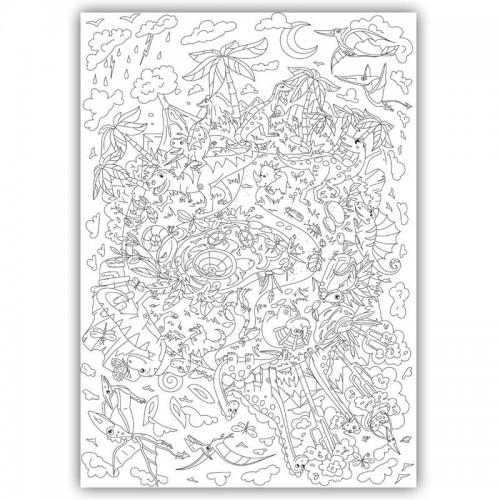 Плакат-раскраска Диноленд XL (тубус)  в  Интернет-магазин Zelenaya Vorona™ 1