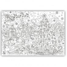 Плакат-раскраска Лапландия XL (тубус)
