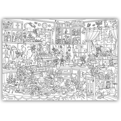 Плакат-раскраска Кухонные Феи XL (тубус)  в  Интернет-магазин Zelenaya Vorona™ 1