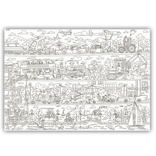 Плакат-раскраска Приключения в Автопарке XXL (конверт)  в  Интернет-магазин Zelenaya Vorona™ 1