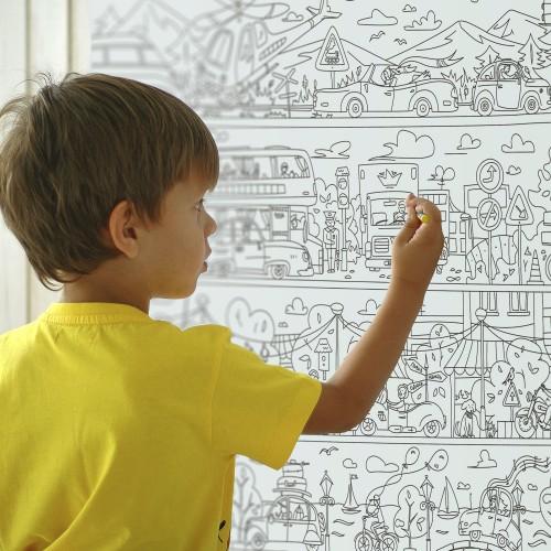 Плакат-раскраска Приключения в Автопарке XXL (конверт)  в  Интернет-магазин Zelenaya Vorona™ 5