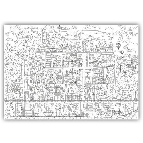 Плакат-раскраска Дом, милый дом XХL (конверт)  в  Интернет-магазин Zelenaya Vorona™ 2