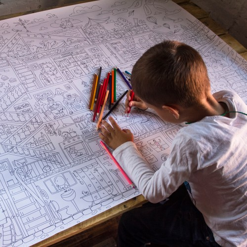 Плакат-раскраска Дом, милый дом XХL (конверт)  в  Интернет-магазин Zelenaya Vorona™ 3