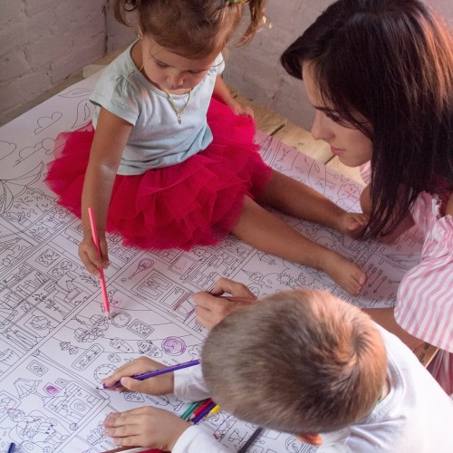 Плакат-раскраска Дом, милый дом XХL (конверт)  в  Интернет-магазин Zelenaya Vorona™ 4