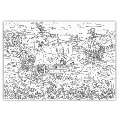 Плакат-раскраска Пираты: на краю света XL (тубус)  в  Интернет-магазин Zelenaya Vorona™ 2