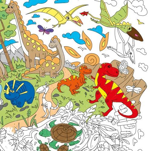 Покупка  Большая раскраска Диноленд. Мир динозавров в  Интернет-магазин Zelenaya Vorona™