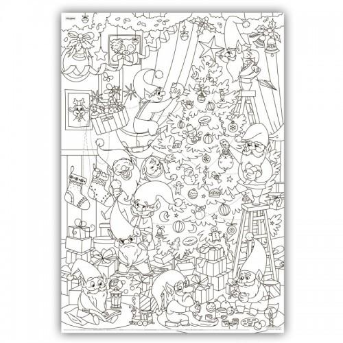 Плакат-раскраска Рождественская ёлка  в  Интернет-магазин Zelenaya Vorona™ 1