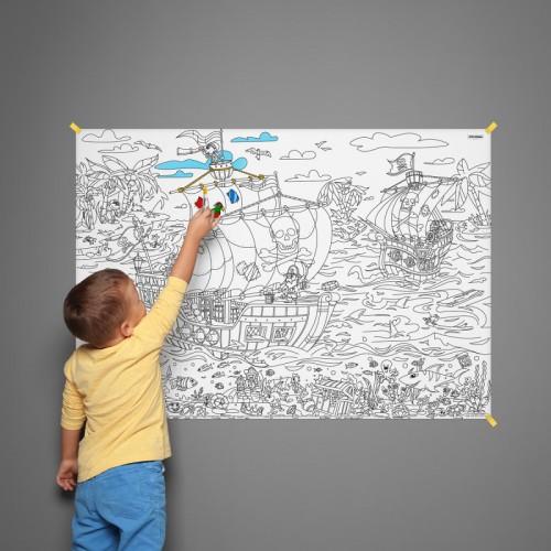 Плакат-раскраска Пираты: на краю света XL (тубус)  в  Интернет-магазин Zelenaya Vorona™ 1