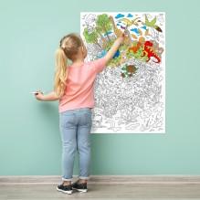 Большая раскраска Диноленд. Мир динозавров
