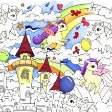 Плакат-раскраска Единорожки