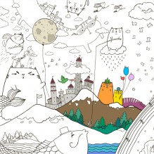 Плакат-раскраска Котоляндия XL (тубус)