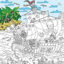 Плакат-раскраска Пираты: на краю света XL (тубус)