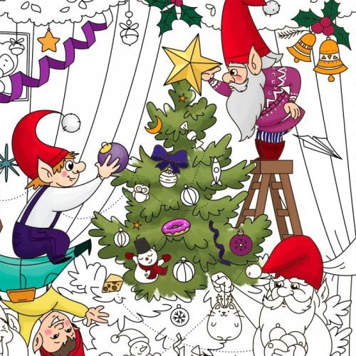 Покупка  Плакат-раскраска Рождественская ёлка в  Интернет-магазин Zelenaya Vorona™