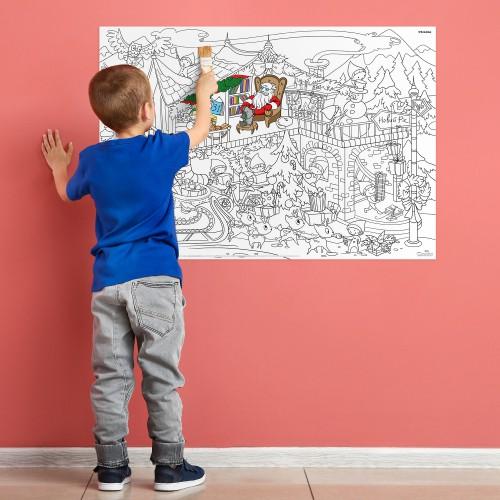 Плакат-раскраска Новогодняя. Дом Санта Клауса  в  Интернет-магазин Zelenaya Vorona™ 3