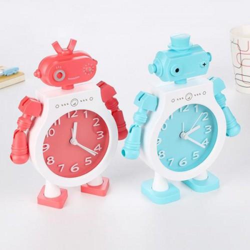 Детские настольные часы-будильник Робот. Голубой  в  Интернет-магазин Zelenaya Vorona™ 1
