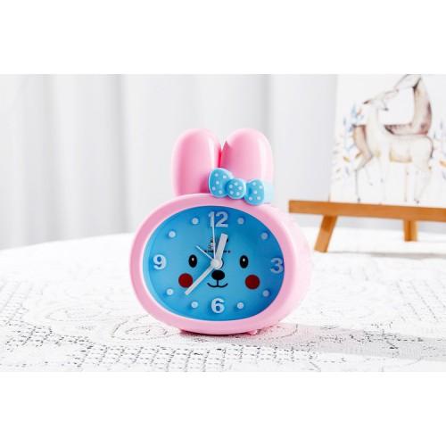 Детские настольные часы-будильник Зайка. Розовые ушки  в  Интернет-магазин Zelenaya Vorona™ 2