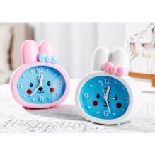 Детские настольные часы-будильник Зайка. Белые ушки