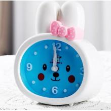 Детские настольные часы-будильник Зайка. Белые ушки УЦЕНКА