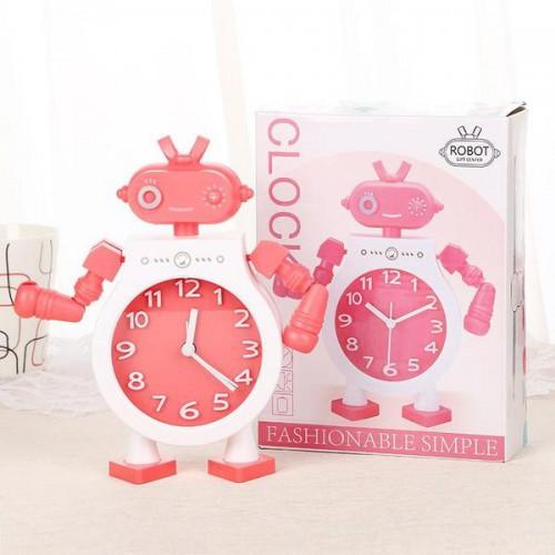 Детские настольные часы-будильник Робот. Голубой  в  Интернет-магазин Zelenaya Vorona™ 4
