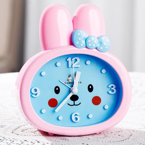 Покупка  Детские настольные часы-будильник Зайка. Розовые ушки УЦЕНКА в  Интернет-магазин Zelenaya Vorona™
