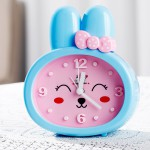 Детские настольные часы-будильник Зайка. Синие ушки. УЦЕНКА