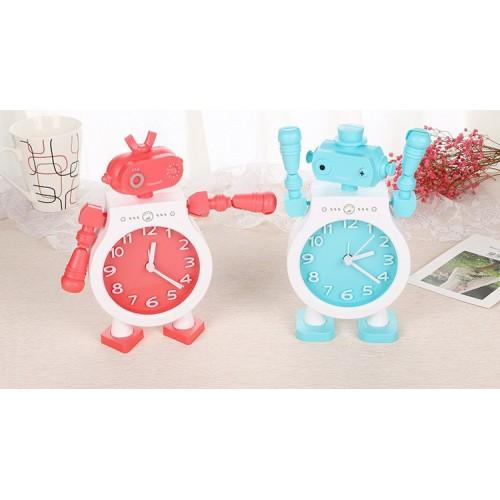 Детские настольные часы-будильник Робот. Голубой  в  Интернет-магазин Zelenaya Vorona™ 3