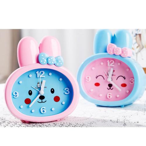 Детские настольные часы-будильник Зайка. Синие ушки. УЦЕНКА  в  Интернет-магазин Zelenaya Vorona™ 1
