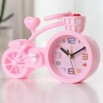 Настольные часы-будильник Велосипед. Светло-розовый
