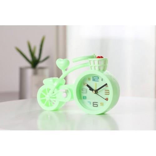 Настольные часы-будильник Велосипед. Светло-зеленый  в  Интернет-магазин Zelenaya Vorona™ 1