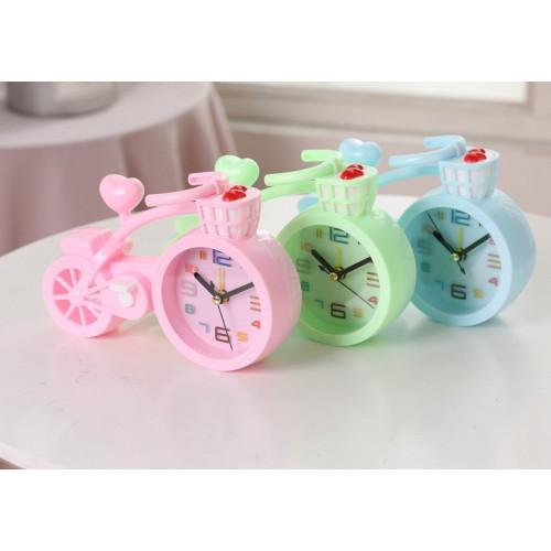 Настольные часы-будильник Велосипед. Светло-розовый  в  Интернет-магазин Zelenaya Vorona™ 2