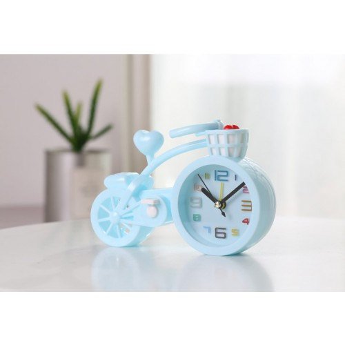 Настольные часы-будильник Велосипед. Светло-голубой  в  Интернет-магазин Zelenaya Vorona™ 1