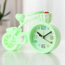 Настольные часы-будильник Велосипед. Светло-зеленый