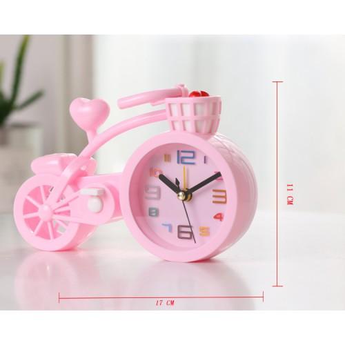 Настольные часы-будильник Велосипед. Светло-розовый  в  Интернет-магазин Zelenaya Vorona™ 1