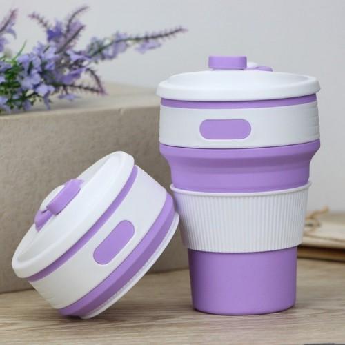 Складная силиконовая чашка Collapsible. Лиловая   в  Интернет-магазин Zelenaya Vorona™ 3
