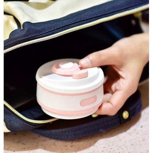 Складная силиконовая чашка Collapsible. Розовая   в  Интернет-магазин Zelenaya Vorona™ 7
