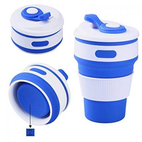Покупка  Складная силиконовая чашка Collapsible. Синяя в  Интернет-магазин Zelenaya Vorona™