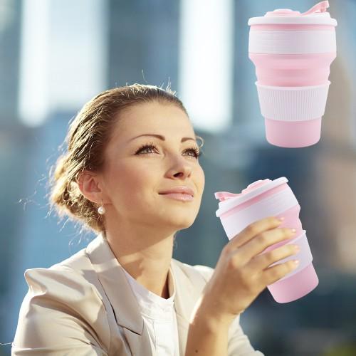 Складная силиконовая чашка Collapsible. Розовая   в  Интернет-магазин Zelenaya Vorona™ 4
