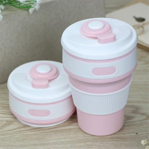 Складная силиконовая чашка Collapsible. Розовая   в  Интернет-магазин Zelenaya Vorona™ 6