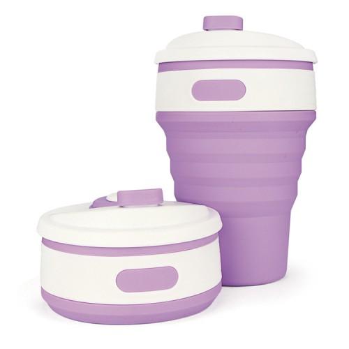 Складная силиконовая чашка Collapsible. Лиловая   в  Интернет-магазин Zelenaya Vorona™ 1