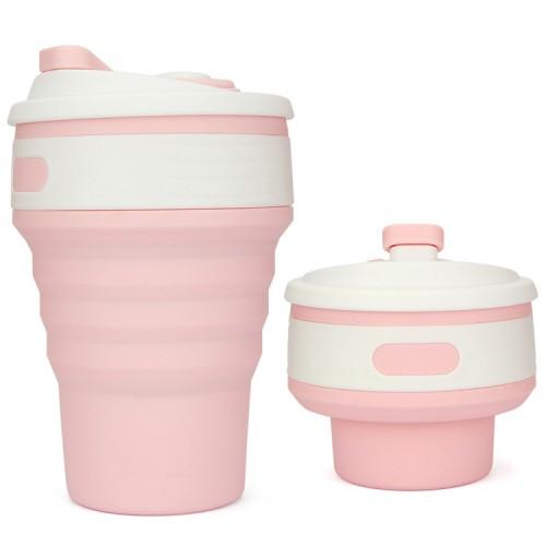 Складная силиконовая чашка Collapsible. Розовая   в  Интернет-магазин Zelenaya Vorona™ 1
