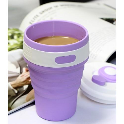 Складная силиконовая чашка Collapsible. Лиловая   в  Интернет-магазин Zelenaya Vorona™ 2