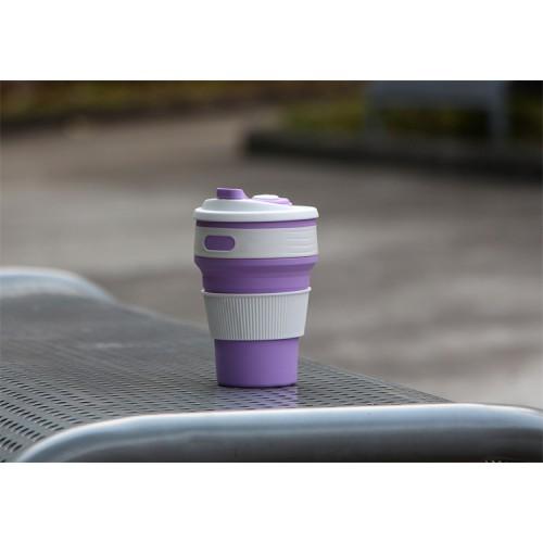 Складная силиконовая чашка Collapsible. Лиловая   в  Интернет-магазин Zelenaya Vorona™ 4