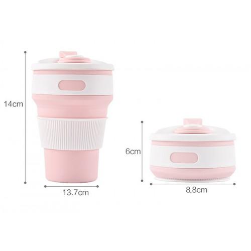 Складная силиконовая чашка Collapsible. Розовая   в  Интернет-магазин Zelenaya Vorona™ 3