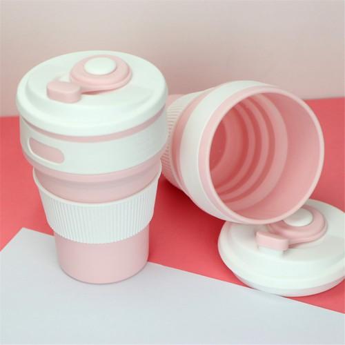Складная силиконовая чашка Collapsible. Розовая   в  Интернет-магазин Zelenaya Vorona™ 5