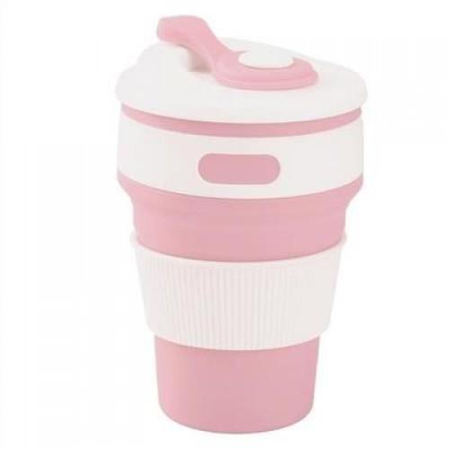 Складная силиконовая чашка Collapsible. Розовая   в  Интернет-магазин Zelenaya Vorona™ 2