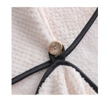 Полотенце-чалма для сушки волос Коралловый бархат. Нежно-розовый