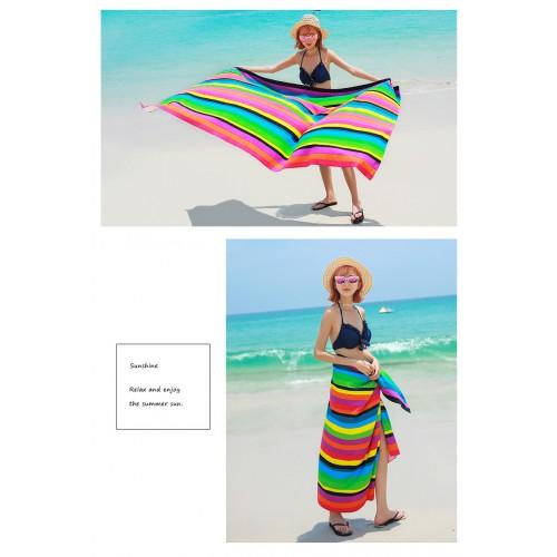 Пляжное полотенце Rainbow 100х180 см, микрофибра  в  Интернет-магазин Zelenaya Vorona™ 3